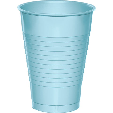 Baby Blue Bulk Party Plastic Cups 12 oz. (240/Case)-Solid Color Party Tableware-Creative Converting-240-