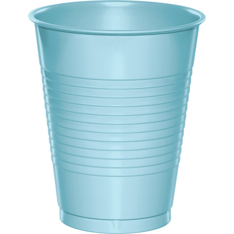 Baby Blue Bulk Party Plastic Cups 16 oz. (240/Case)-Solid Color Party Tableware-Creative Converting-240-