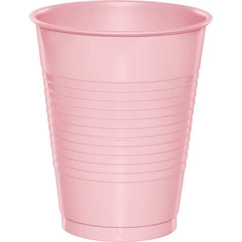 Pink Bulk Party Plastic Cups 16 oz. (240/Case)-Solid Color Party Tableware-Creative Converting-240-