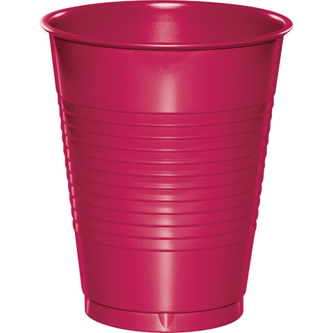 Hot Magenta Pink Bulk Party Plastic Cups 16 oz. (240/Case)-Solid Color Party Tableware-Creative Converting-240-