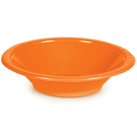 Orange Bulk Party Plastic Bowls 12 oz. (240/Case)