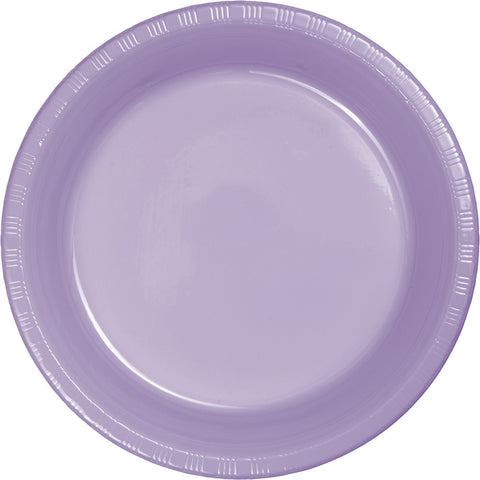 "Lavender Bulk Party Plastic Dinner Plates 9"" (240/Case)-Solid Color Party Tableware-Creative Converting-240-"