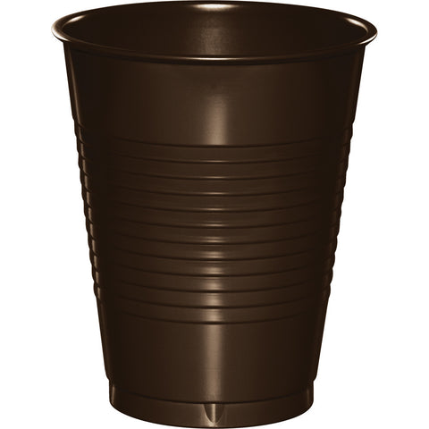 Brown Bulk Party Plastic Cups 16 oz. (240/Case)