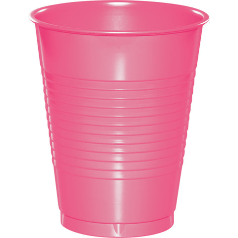 Candy Pink Bulk Party Plastic Cups 16 oz. (240/Case)