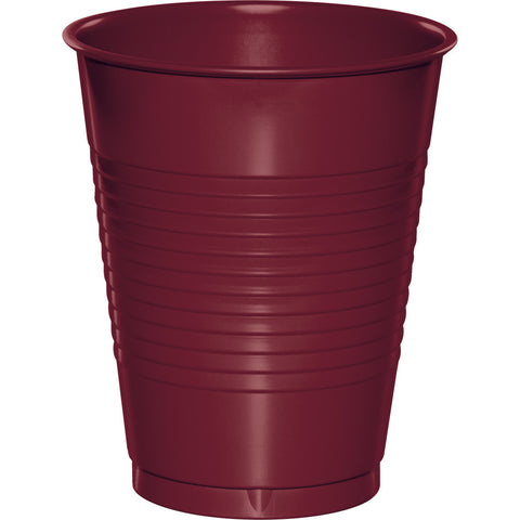 Burgundy Bulk Party Plastic Cups 16 oz. (240/Case)
