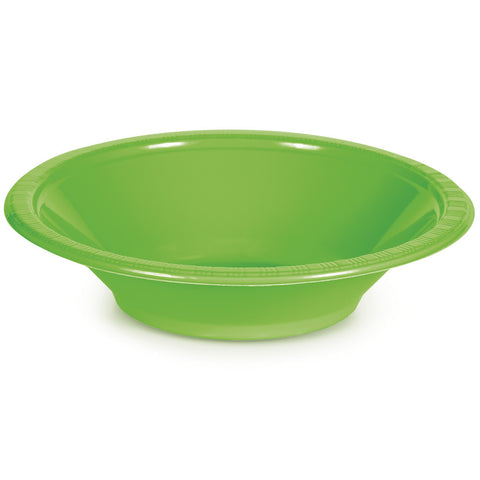 Lime Green Bulk Party Plastic Bowls 12 oz. (240/Case)-Solid Color Party Tableware-Creative Converting-240-