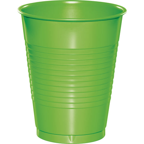 Lime Green Bulk Party Plastic Cups 16 oz. (240/Case)-Solid Color Party Tableware-Creative Converting-240-