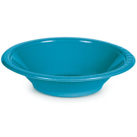 Turquoise Bulk Party Plastic Bowls 12 oz. (240/Case)-Solid Color Party Tableware-Creative Converting-240-