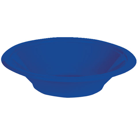 Cobalt Blue Bulk Party Plastic Bowls 12 oz. (240/Case)-Solid Color Party Tableware-Creative Converting-240-