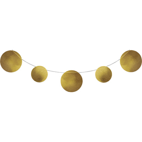 Gold Bulk Party Foil Embossed Banner 9 ft. Decorations