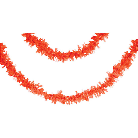 Orange Bulk Party Tissue Garland Decorations, 25 ft.