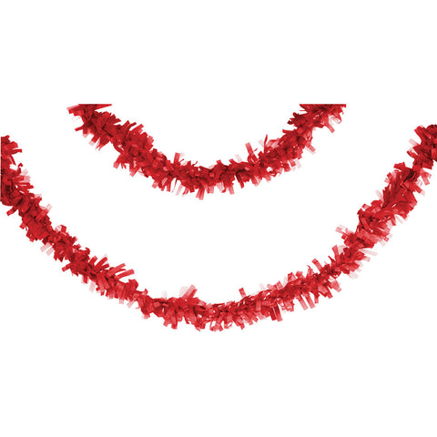 Red Bulk Party Tissue Garland Decorations, 25 ft.