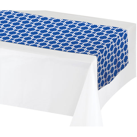 "Blue Disposable Catering Table Runners 14"" x 84"""