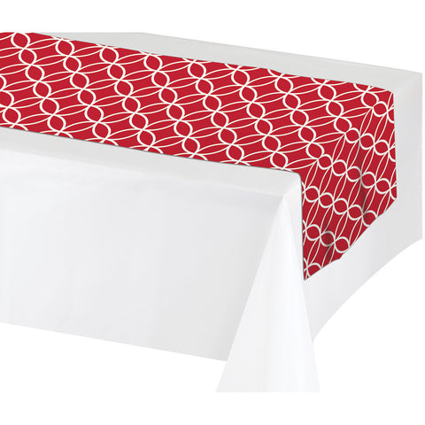 "Red Disposable Catering Table Runners 14"" x 84"""