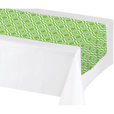 "Lime Green Disposable Catering Table Runners 14"" x 84"""