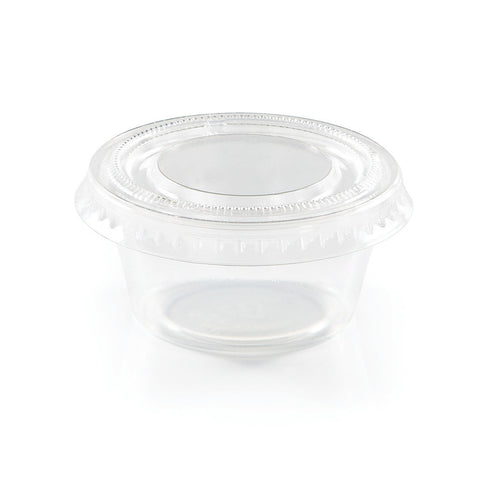 Clear Disposable Catering Portion Cups with Lids 2 oz