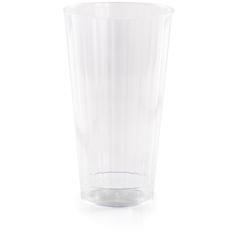 Clear Disposable Catering Fluted Tumblers Case 16 oz