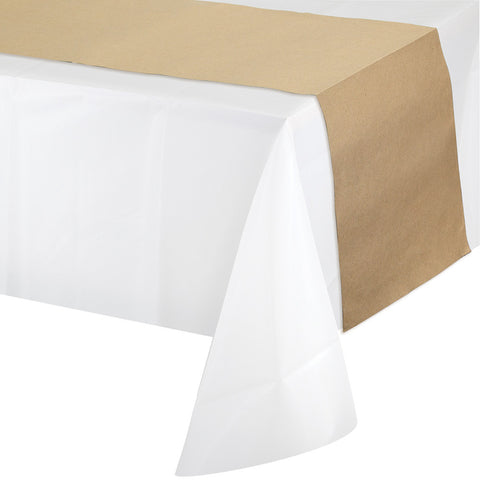 "Kraft Paper Disposable Catering Table Runners 14"" x 84""-Disposable Catering Supplies-Creative Converting-12-"