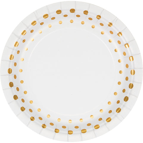 Gold Foil Bulk Party Lunch Plates