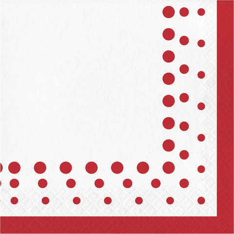 Red Polka Dot Bulk Party Lunch Napkins