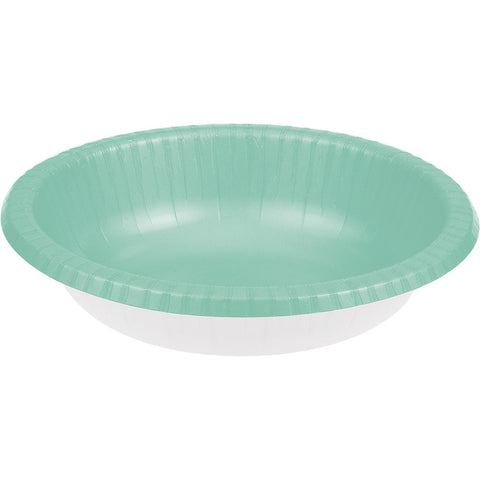 Mint Green Bulk Party Paper Bowls 20 oz. (200/Case)-Solid Color Party Tableware-Creative Converting-200-