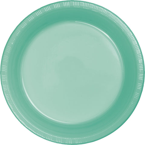 "Mint Green Bulk Party Plastic Dinner Plates 9"" (240/Case)-Solid Color Party Tableware-Creative Converting-240-"