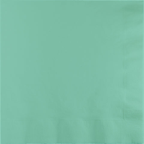 Mint Green Bulk Party 3 Ply Dinner Napkins 1/4 Fold (250/Case)-Solid Color Party Tableware-Creative Converting-250-