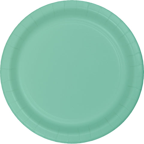 "Mint Green Bulk Party Paper Lunch Plates 7"" (240/Case)-Solid Color Party Tableware-Creative Converting-240-"