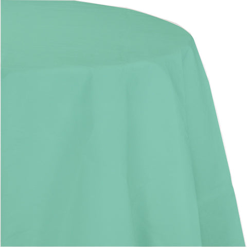 "Mint Green Bulk Party Round Paper Tablecovers 82"" (12/Case)-Solid Color Party Tableware-Creative Converting-12-"