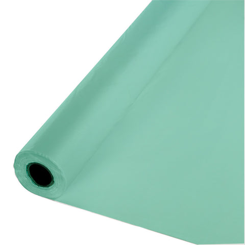 "Mint Green Bulk Party Plastic Tablecloth Rolls 40"" X 250' (1/Case)-Solid Color Party Tableware-Creative Converting-1-"