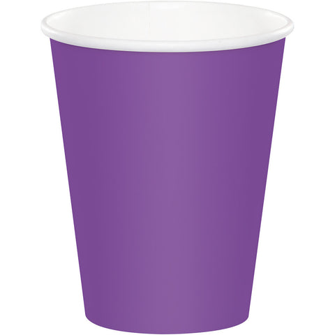 Amethyst Purple Bulk Party Hot/Cold Paper Cups 9 oz. (240/Case)-Solid Color Party Tableware-Creative Converting-240-