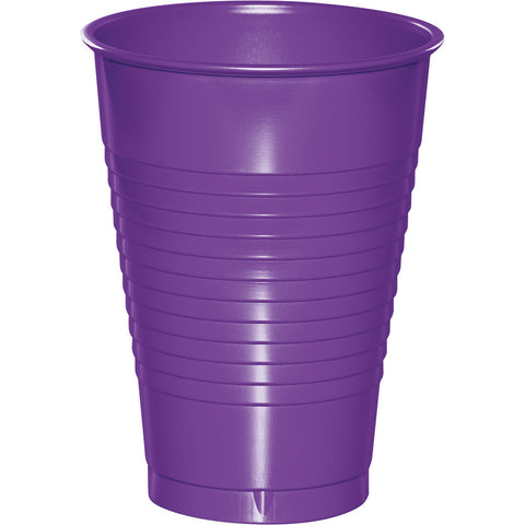 Amethyst Purple Bulk Party Plastic Cups 12 oz. (240/Case)-Solid Color Party Tableware-Creative Converting-240-