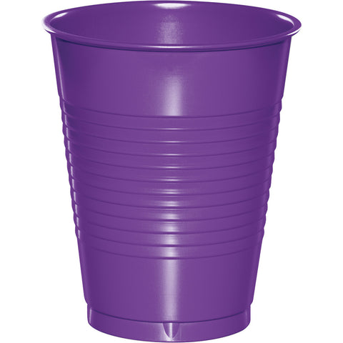 Amethyst Purple Bulk Party Plastic Cups 16 oz. (240/Case)-Solid Color Party Tableware-Creative Converting-240-