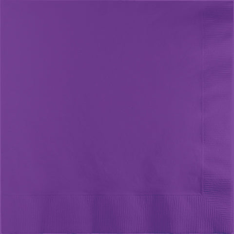 Amethyst Purple Bulk Party 3 Ply Dinner Napkins 1/4 Fold (250/Case)-Solid Color Party Tableware-Creative Converting-250-