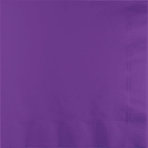 Amethyst Purple Bulk Party 2 Ply Lunch Napkins (600/Case)-Solid Color Party Tableware-Creative Converting-600-