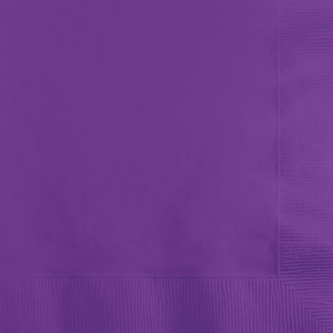 Amethyst Purple Bulk Party 2 Ply Beverage Napkins (600/Case)-Solid Color Party Tableware-Creative Converting-600-