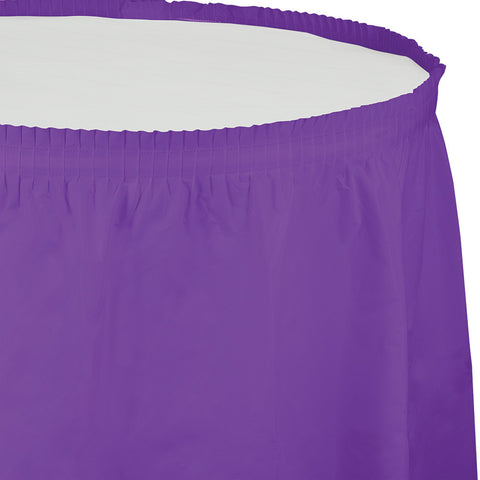 "Amethyst Purple Bulk Party Tableskirts, 14' x 29"" (6/Case)-Solid Color Party Tableware-Creative Converting-6-"