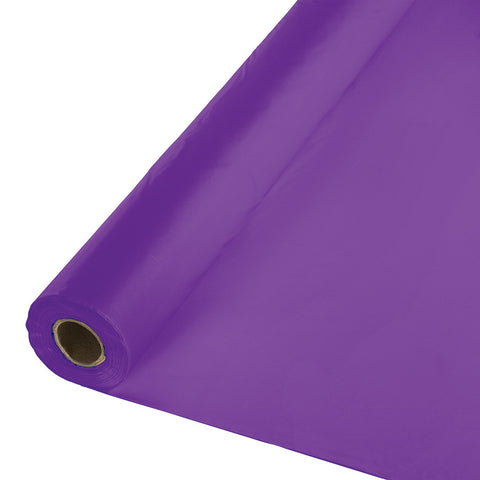 "Amethyst Purple Bulk Party Plastic Tablecloth Rolls 40"" x 100' (1/Case)"