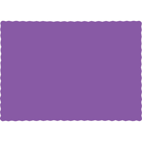 Amethyst Purple Bulk Party Paper Placemats  (600/Case)