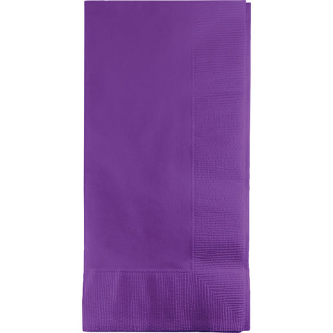 Amethyst Purple Bulk Party 2 Ply Dinner Napkins 1/8 Fold (600/Case)-Solid Color Party Tableware-Creative Converting-600-