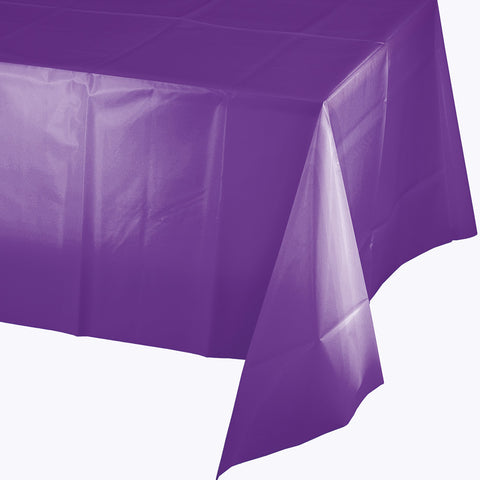 "Amethyst Purple Bulk Party Plastic Tablecovers 54"" x 108"" (12/Case)-Solid Color Party Tableware-Creative Converting-12-"