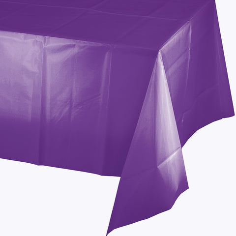 "Amethyst Purple Bulk Party Plastic Tablecovers 54"" x 108"" (24/Case)-Solid Color Party Tableware-Creative Converting-24-"