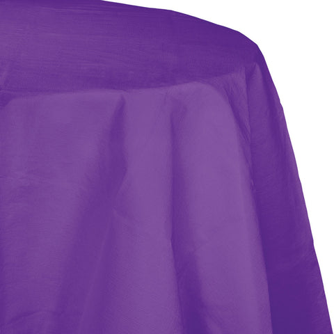 "Amethyst Purple Bulk Party Round Paper Tablecovers 82"" (12/Case)"