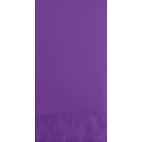 Amethyst Purple Bulk Party 3 Ply Guest Towel Napkins (192/Case)-Solid Color Party Tableware-Creative Converting-192-