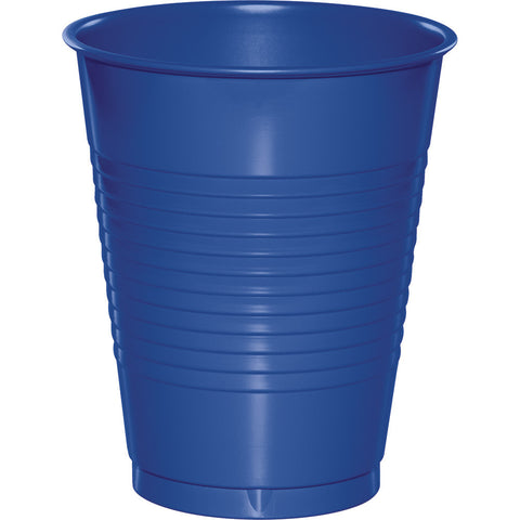 Cobalt Blue Bulk Party Plastic Cups 16 oz. (600/Case)-Solid Color Party Tableware-Creative Converting-600-