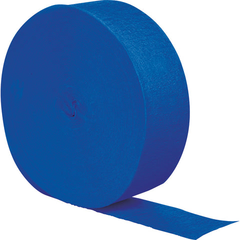 Cobalt Blue Bulk Party Crepe Paper Streamers 500' (12/Case)