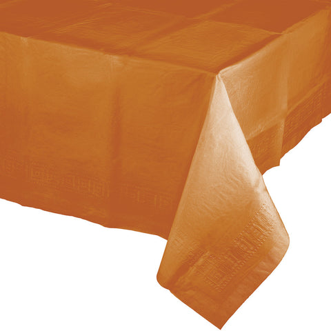 "Pumpkin Spice Orange Bulk Party Paper Tablecovers 54""x 108"" (6/Case)-Solid Color Party Tableware-Creative Converting-6-"