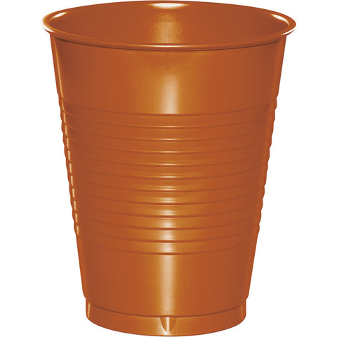 Pumpkin Spice Orange Bulk Party Plastic Cups 12 oz. (240/Case)