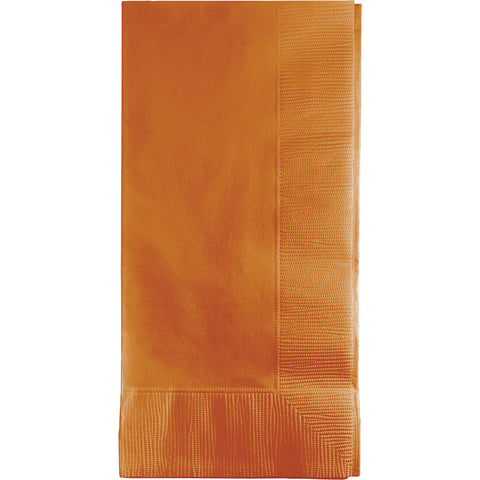 Pumpkin Spice Orange Bulk Party 2 Ply Dinner Napkins 1/8 Fold (600/Case)