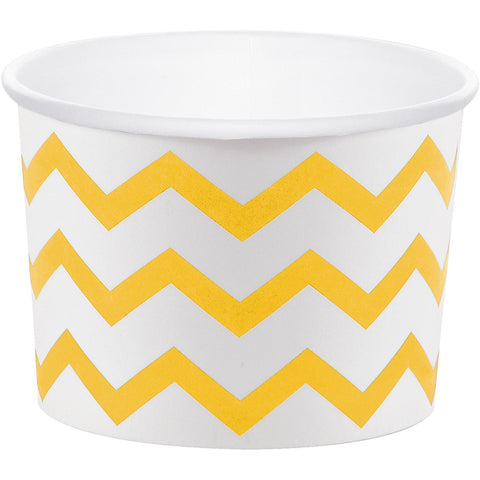 School Bus Yellow Bulk Party Chevron Paper Treat Cups Case-Disposable Catering Supplies-Creative Converting-72-